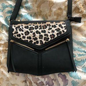 Adorable cheetah crossbody bag adjustable strap